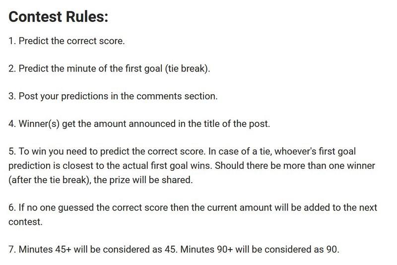 Contest #44  Predict the Score and Win 10 SCR — barbadosso on Scorum