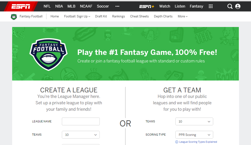 Espn free fantasy football prizes