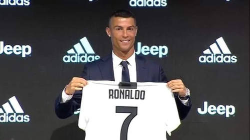 super popular 452db f30aa Cristiano Ronaldo Launched His New Team Juventus Jersey No 7 ...