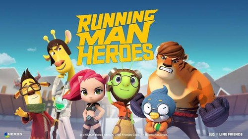 Nexon's new 'Running Man Heroes' There are some familiar