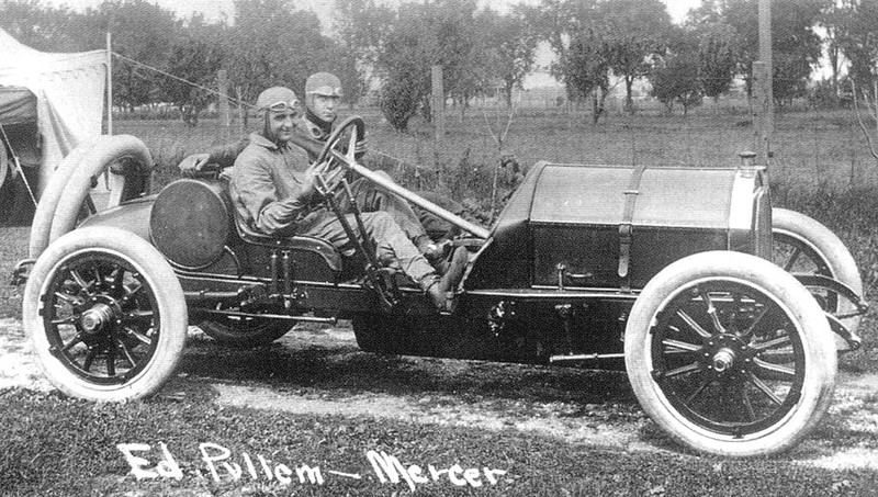 Vintage Sports Photo: Eddie Pullen and Hughie Hughes in a Mercer ...