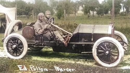 Vintage Sports Photo: Eddie Pullen and Hughie Hughes in a Mercer ...