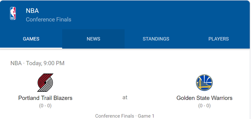 Western Conference Finals Game 1 and Series Prediction